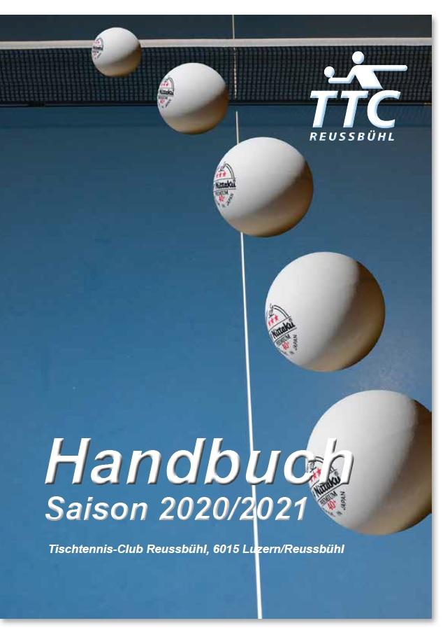 TTC Reussbühl: Handbuch Saison 2020/21